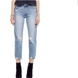 NWT Mother The Tomcat Ripped Crop Jeans